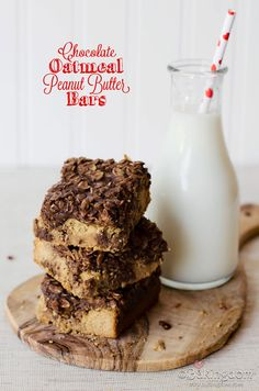 Chocolate Oatmeal Peanut Butter Bars from ©Bakingdom