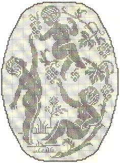 Crochet Angel Pattern, Crochet Angels, Crochet Cross, Thread Crochet, C2c Crochet, Crochet Patterns, Crochet Curtains, Crochet Doilies, Filet Crochet Charts
