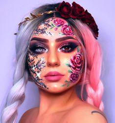 Makeup Eye Looks, Crazy Makeup, Cute Makeup, Face Paint Makeup, Eye Makeup Art, Body Makeup, Makeup Geek, Makeup Inspo, Makeup Eyeshadow