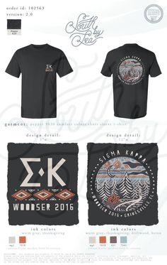 Sigma Kappa | SK | Woodser | Gainesville Florida | Camp Trip T-Shirt Design | South by Sea | Greek Tee Shirts | Greek Tank Tops | Custom Apparel Design | Custom Greek Apparel | Sorority Tee Shirts | Sorority Tanks | Sorority Shirt Designs