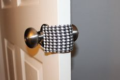 DIY Door-jam for a no-noise close. Perfect for a baby's room.