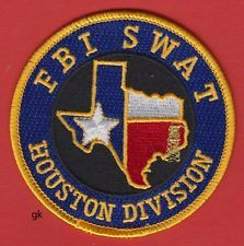 HOUSTON TEXAS DIVISION FBI SWAT SHOULDER PATCH.