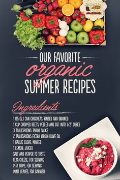 Simple summer snacking! Made with fresh ingredients delivered locally from Farm Fresh to You, this Roasted Beet Hummus recipe will become a staple at your table!