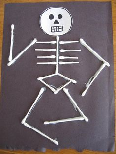 Straw Skeletons From Abc School Art In The Classroom
