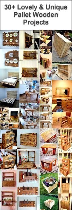 Pallet wooden unique ideas
