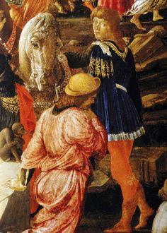 Sandro Botticelli - Renaissance - Tondo de l'Adoration des Mages, detail - 1475