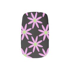 Pink Daisy: Black Minx Nails Minx ® Nail Wraps