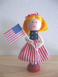Patriotic Clothespin Doll