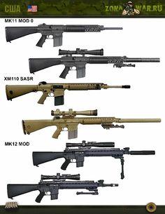 штурмовые винтовки XM-110 SASR