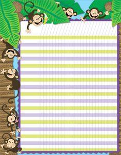 Monkeys Designer Incentive Chart Rainforest Theme, Creative Teaching Press, Jungle Theme, Classroom Design, Pediatrics, Monkeys, Beach Mat, Outdoor Blanket, Chart