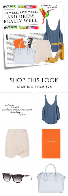 """Parrot in Paradise"" by twinklepink ❤ liked on Polyvore featuring Post-It, Levi's, RVCA, BCBGMAXAZRIA, Smythson, Balmain, Givenchy and Steve Madden"