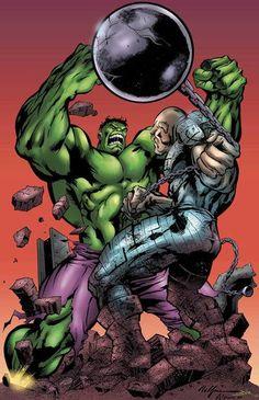 Hulk vs Absorbing Man by MC Wyman Marvel Comics Art, Hulk Marvel, Marvel Comic Books, Comic Book Characters, Marvel Characters, Comic Books Art, Comic Art, Marvel Heroes, Book Art