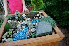Fairy Gardens. My daughter & I love to make fairy house on the woods & this will be nice to have in our backyard. Great project for the nice weather coming up!