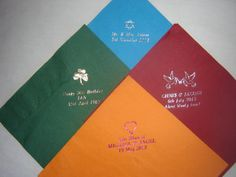 Quality printed personalised napkins by KPlanNapkins on Etsy