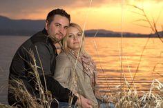 Daniel und Lika im Sonnenuntergang