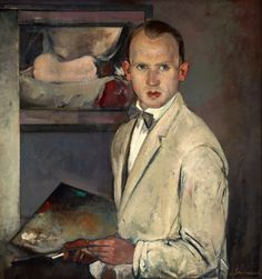 Jean Schaack Self-Portrait by Jean Schaack (1895-1959) One of the more unusual ~ he has a most perplexing look on his face...