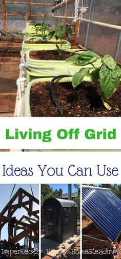 Living Off Grid on Your Homestead - Ideas You Can Use. Grey water, solar, gasification and more!
