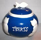 Bombay Ceramic Blue & White Cat Treat Jar Canister Bowl with Fish Lid Mint - http://pets.goshoppins.com/cat-supplies/bombay-ceramic-blue-white-cat-treat-jar-canister-bowl-with-fish-lid-mint/