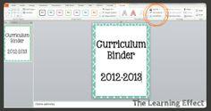 Making Binder Covers & Spines in powerpoint {tutorial}