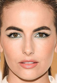 Close-up of Camilla Belle at the 2015 Michael Kors Gold Collection fragrance launch. http://beautyeditor.ca/2015/09/21/best-beauty-looks-bella-thorne