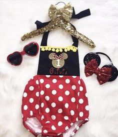 Baby Girl Minnie Mouse Disney Romper Onesie