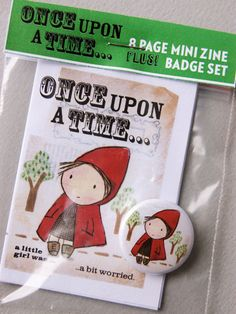Once upon a time mini zine and badge set