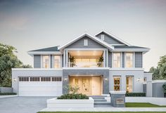 Hamptons style homes - The Orana Coast Homes Perth, Hamptons Style Homes, Hamptons Beach Houses, Suburban House, Luxury Homes Dream Houses, American Houses, Dream House Exterior, Facade House, House Facades