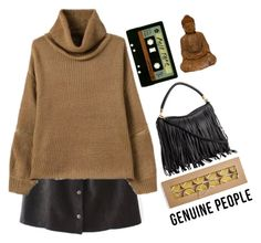 """""""# Genuine People"""" by credentovideos ❤ liked on Polyvore featuring moda ve INDIE HAIR"""