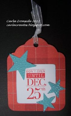 Make your own gift tags for Christmas! :)