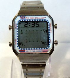 The Dukes of Hazzard Video Game Arcade LCD Digital Watch