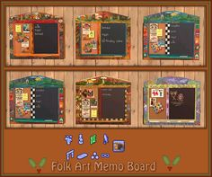 Folk Art Memo Board/Calendar - Downloads - BPS Community