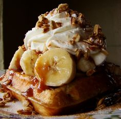 My Favorite Things: Amazing Caramel Banana Pearl Sugar Liege Waffles...The Liège waffle is a richer, denser, sweeter, and chewier waffle.