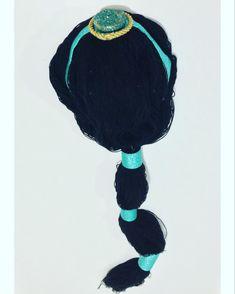 Cabellera de lana y toques decorativos com fomi de princesa Jasmine Lana, Princess, Manualidades