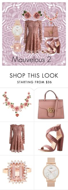 """Mauvelous 2"" by izabel12-exe on Polyvore featuring Dolce&Gabbana, Gucci, Chicwish, Charlotte Russe and CLUSE"
