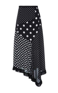 Polka Dot Asymmetrical Midi Skirt by Andrew Gn | Moda Operandi