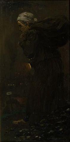 Hiercheuse (sintelraapster) - Herman Heijenbrock  (1914)