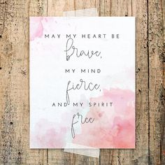 May my heart be brave my mind fierce and my by spirit free... by Franchesca Cox  #peaceforparis