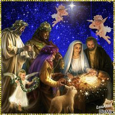 Baby Jesus is here! Christmas Scenes, Christmas Nativity, Christmas Pictures, Christmas Angels, Christmas Art, Christmas Greetings, Christmas Holidays, Christmas Decorations, Happy Easter Everyone