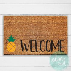 Pineapple Welcome Doormat  Welcome Mat  Pineapple Decor