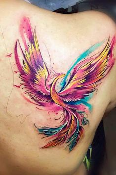 33 amazing phoenix tattoo ideas with greater meaning - beautiful aquare . - 33 amazing phoenix tattoo ideas with greater meaning – beautiful watercolor tattoo design for sho - Pretty Tattoos, Unique Tattoos, Beautiful Tattoos, Small Tattoos, Dr Tattoo, Tattoo Trend, Feather Tattoo Design, Phoenix Tattoo Design, Phoenix Design