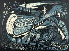 Mark Hearld 'Sea Change' linocut http://www.stjudesprints.co.uk
