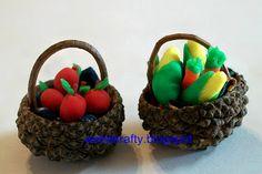 How to Make a Miniature Acorn Top Basket