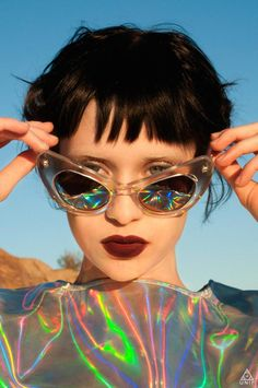 clothes, tops, holographic, accessories, sunglasses, eyewear