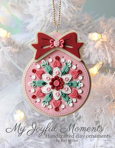 handcrafted polymer clay ornament by kay miller my joyful moments on etsy