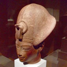 "Head of Amunhotep III (EA 30448, on loan from the British Museum, London, UK) - from the ""Pharaoh: King of Ancient Egypt"" exhibit on display at the Cleveland Museum of Art"