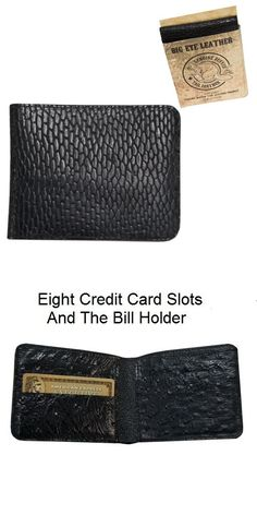 Other Hunting Clothing and Accs 159036: 100% Beaver Tail Leather Handmade Wallet Has 8 Credit Card Slots Will Last Years -> BUY IT NOW ONLY: $55.6 on eBay!