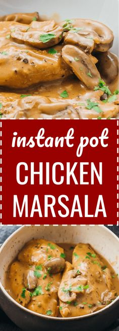 A favorite pressure cooker recipe, this Instant Pot chicken marsala meal is one of those easy italian dinners that's simple and healthy at the same time -- keto, low carb, and gluten free. The sauce is the best with a creamy texture and flavorful taste.  As for what to serve with this dinner main, you can make pasta or something lower in carbs. #instantpot #lowcarb #healthy / cheesecake factory & olive garden copycat
