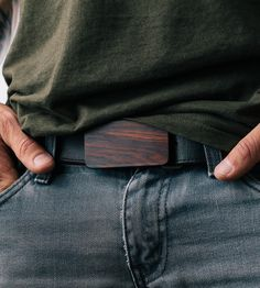 Cocobolo Wood Belt Buckle | With an intricate grain pattern, this cocobolo wood buckle is ... | Belt Buckles
