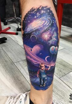 65 Fascinating Space Tattoo Ideas- The Mysterious Nature of the Cosmos in Body Art More