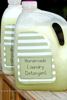 Life At Cobble Hill Farm: Homemade Laundry Detergent - Liquid and Powder Versions